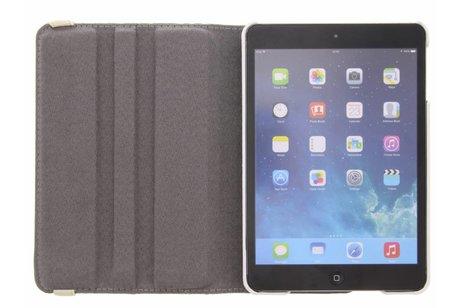 360° Draaibare Design Bookcase voor iPad Mini / 2 / 3 - Waterverf Blauw