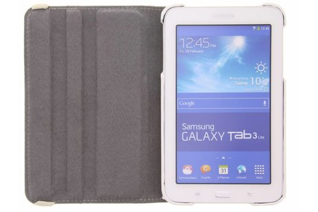 Samsung Galaxy Tab 3 Lite 7.0 hoesje - 360° Draaibare Design Bookcase