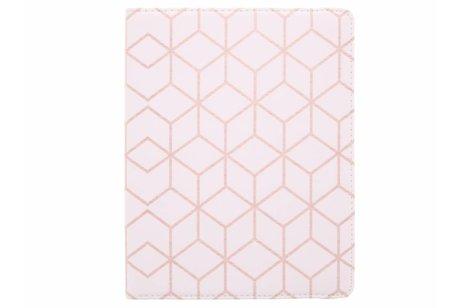 360° Draaibare Design Bookcase voor iPad 2 / 3 / 4 - Cubes Rose Gold