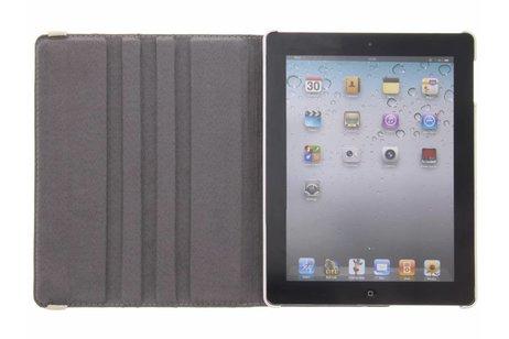 360° Draaibare Design Bookcase voor iPad 2 / 3 / 4 - Flamingo