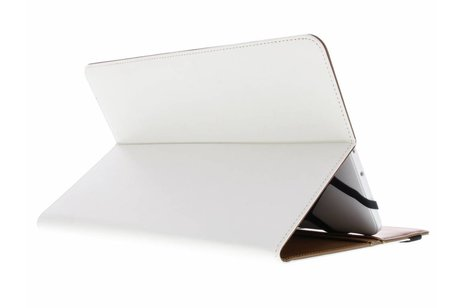 Witte Universele Wallet Stand Case voor 9-10 inch tablets