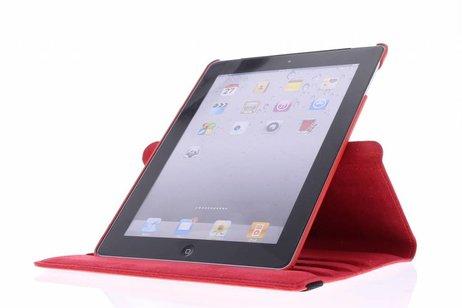360° Draaibare Bookcase voor iPad 2 / 3 / 4 - Rood