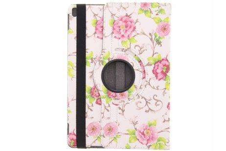 360° Draaibare Design Bookcase voor iPad Pro 10.5 / Air 10.5 - Roze rozen