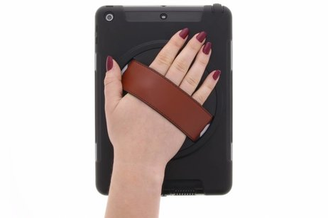 Defender Backcover met strap voor iPad (2017) / (2018) - Zwart