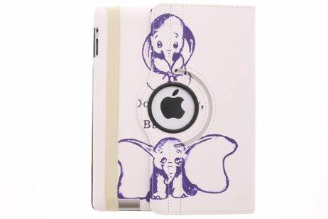 360° Draaibare Design Bookcase voor iPad 2 / 3 / 4 - Be happy