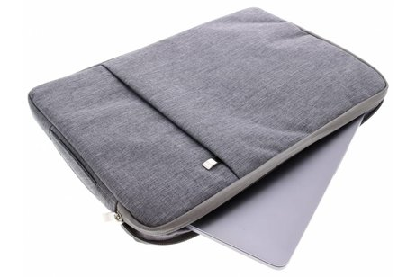 Grijze textiel universele sleeve 15 inch