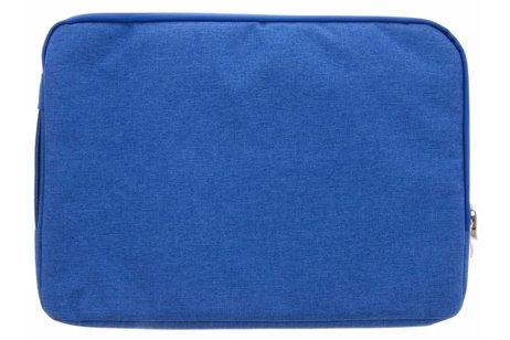 Blauwe textiel universele sleeve 15 inch