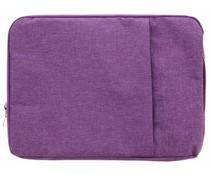 Paars textiel universele sleeve 15 inch