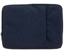 Donkerblauw textiel universele sleeve 13.3 inch