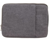 Grijs textiel universele sleeve 13.3 inch