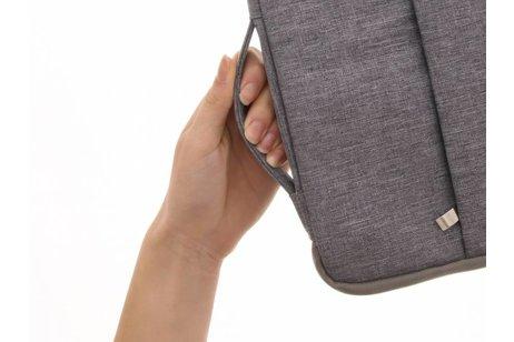 Grijze textiel universele sleeve voor de 13.3 inch