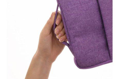 Paarse textiel universele sleeve voor de 13.3 inch