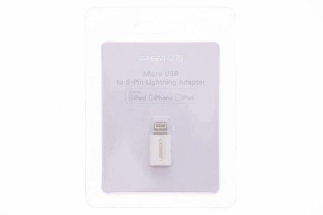 Ugreen Witte Micro-USB naar Lightning Adapter