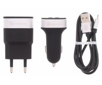 Zwart USB Oplaadkit 3 in 1