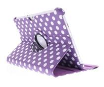 360° Draaibare Polka Dot Bookcase Samsung Galaxy Tab 2 10.1