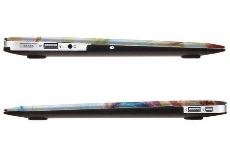 MacBook Air 11.6 inch hoesje - Kleuren design hardshell voor