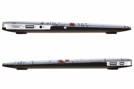 MacBook Air 11.6 inch hoesje - Wereldkaart design hardshell voor