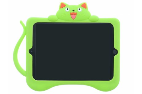 Groene kat dieren tablethoes voor de iPad (2018) / (2017)
