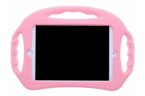 iPad Mini 4 hoesje - Roze tablethoes met handvat