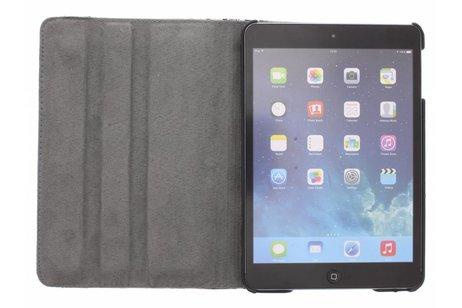 360° Draaibare Design Bookcase voor iPad Mini / 2 / 3 - Bloem