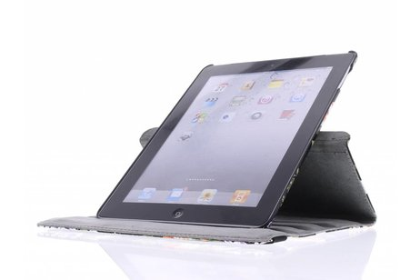 360° Draaibare Design Bookcase voor iPad 2 / 3 / 4 - Bloem