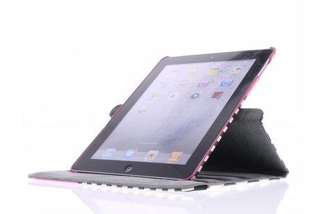360° Draaibare Design Bookcase voor iPad 2 / 3 / 4 - Roze Chevron