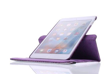 iPad Mini 4 hoesje - Paarse 360° draaibare krokodil