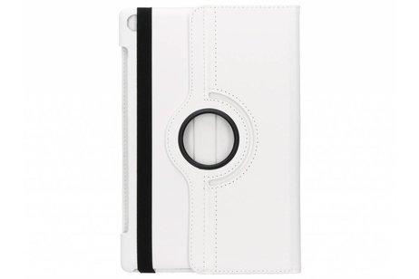 Witte 360° draaibare tablethoes voor de Huawei MediaPad M5 (Pro) 10.8 inch