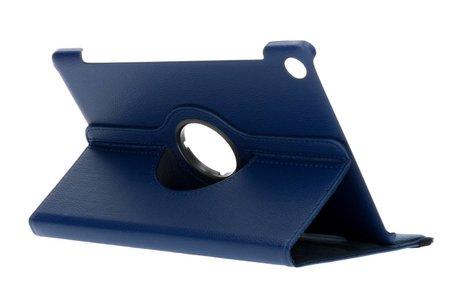 360° Draaibare Bookcase voor Huawei MediaPad M5 (Pro) 10.8 inch - Blauw