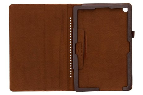 Bruine effen tablethoes voor de Huawei MediaPad M5 (Pro) 10.8 inch