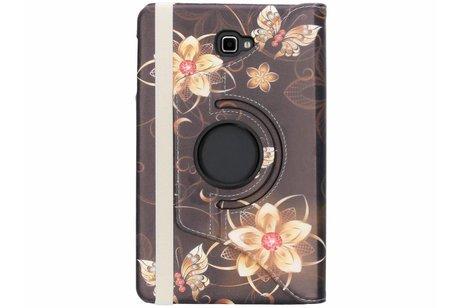 Samsung Galaxy Tab A 10.1 (2016) hoesje - 360º draaibare vlinders design