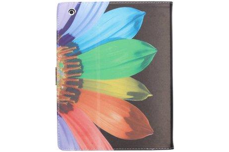 Regenboog zonnebloem design TPU tablethoes voor de iPad 2 / 3 / 4