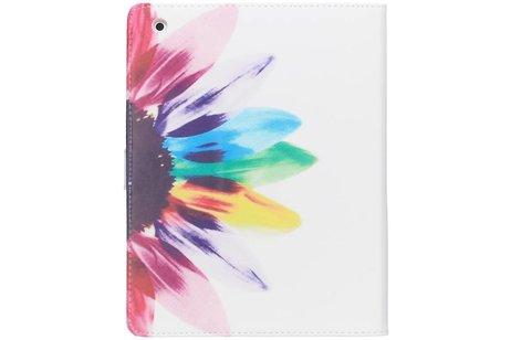 Design Softcase Bookcase voor iPad 2 / 3 / 4 - Zonnebloem