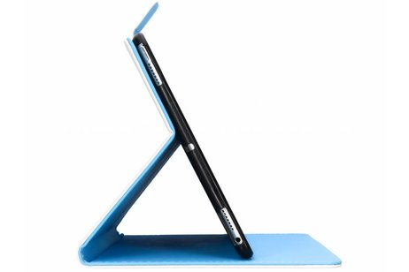 Design Softcase Bookcase voor iPad (2017) / (2018) - Zonnebloem Zwart
