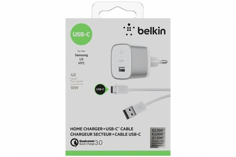 Belkin Witte BOOST↑UP™ Home Charger + USB-C naar USB kabel
