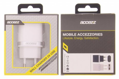 Accezz Witte Dual Port Wall Charger - 2.4A