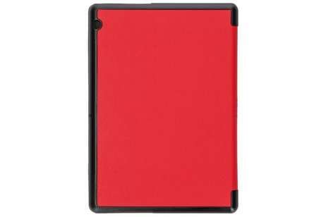 Huawei MediaPad T3 10 inch hoesje - Rode Stand Tablet Cover