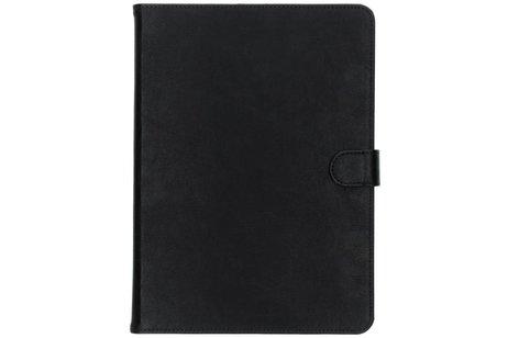 Zwarte luxe leder tablethoes voor de iPad (2018) / (2017)