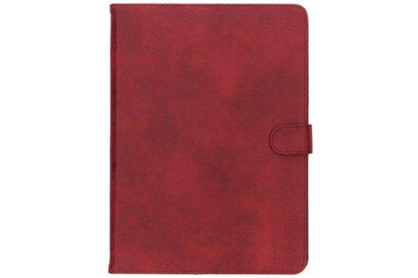 Rode luxe leder tablethoes voor de iPad (2018) / (2017)