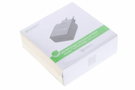Ugreen Wall Charger with Qualcomm Quick Charger 3.0 Technology 3 ampère - Zwart