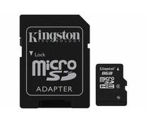 Kingston 8GB microSDHC geheugenkaart klasse 4 + adapter