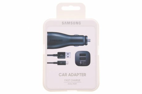 Samsung Dual Port Fast Charge Car Adapter 2A + Micro-USB naar USB-Kabel