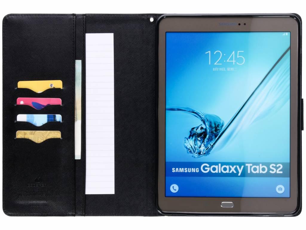 Mercury Goospery Zwarte Canvas Diary Case Voor De Samsung Galaxy Tab S6 Green S2 97 Hoesje
