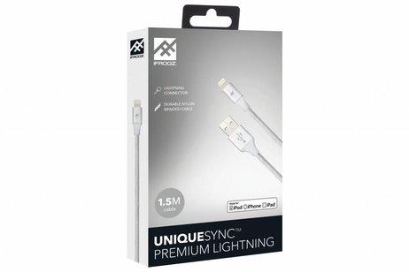 iFrogz Zilveren Unique Sync™ Premium Lightning naar USB kabel - 1,5 meter