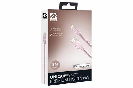 iFrogz Rosé Gouden Unique Sync™ Premium Lightning naar USB kabel - 3 meter