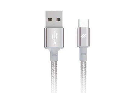 iFrogz Zilveren Unique Sync™ Premium USB-C naar USB kabel