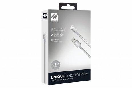 iFrogz Zilveren Unique Sync™ Premium USB-C naar USB kabel 1,8 meter