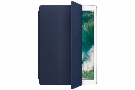 iPad Pro 12.9 hoesje - Apple Blauwe Leather Smart