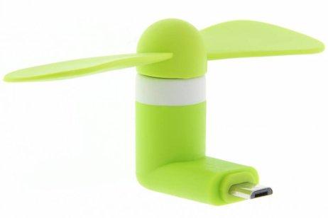 Smartphone ventilator Micro-USB - Groen