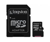 Kingston 64GB microSDHC 1 geheugenkaart klasse 10 + adapter